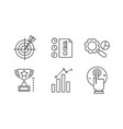 seo line icons set marketing e-commerce website vector image vector image