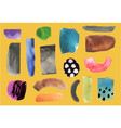 set with paper cut pieces collage set vector image vector image