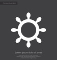 ship wheel premium icon white on dark background vector image