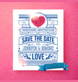 sparkling save the date wedding template with vector image