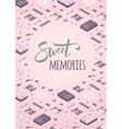 Sweet memories decorating design vector image vector image