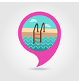 Swimming pool pin map icon Summer Vacation