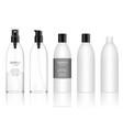 transparent bottle with spray dispenser pump vector image