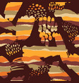 tribal ethnic seamless pattern with strokes vector image vector image