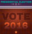Usa Presidential Election Vote 2016 Banner vector image vector image
