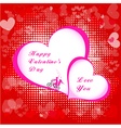 Valentines day paper heart card vector image vector image