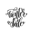 winter sale hand lettering inscription to winter vector image
