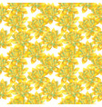 yellow bud of lotus seamless pattern vector image