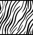 zebra stripes seamless pattern print design vector image vector image