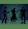 zombie silhouettes vector image vector image