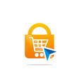 save online shopping logo vector image