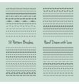 Pattern Brush Set vector image