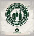 alternative eco waste stamp vector image