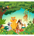 Animals in the forest vector | Price: 3 Credits (USD $3)