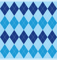 argyle pattern blue rhombus seamless texture vector image vector image