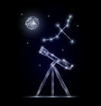 astronomy science polygonal art style vector image