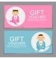 Baby Gift Voucher Template vector image vector image