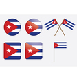 badges with flag of Cuba vector image