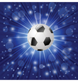 ball on a blue background vector image vector image