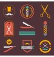 Barber shop logo labels badges vintage vector image vector image