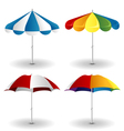 Beach umbrella set vector image vector image