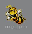 bee mascot logo vector image