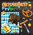 beer festival greeting card template a barrel of vector image vector image