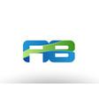 blue green ab a b alphabet letter logo
