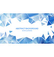 blue polygonal pattern abstract background vector image