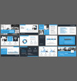Blue presentation templates and infographics