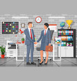 business people partners handshake vector image