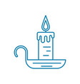 candle with candlestick linear icon concept vector image vector image