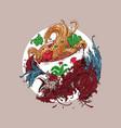 chicken noodle vector image