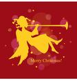christmas card angel vector image vector image