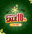 Christmas Sale 10 Percent typographic background vector image vector image