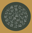 circular set farm animals that are great vector image vector image