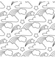 clouds stars rainbow seamless pattern cartoon vector image vector image