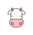 cow icon animal vector image vector image