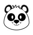 cute panda bear cartoon vector image vector image