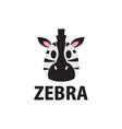 cute zebra flat logo icon vector image vector image