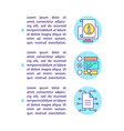 dealing with digital information concept line vector image vector image
