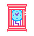 domestic watch icon outline vector image vector image