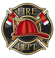 fire department or firefighters maltese cross symb vector image