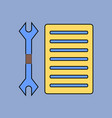 flat icon design collection wrench and grille vector image vector image