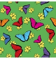Flowers and Butterflies Seamless Pattern vector image