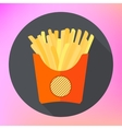 french fries potatoe flat vector image