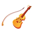 Funny cartoon violin vector image