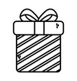 gift box surprise merry christmas thick line vector image vector image