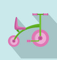 girl tricycle icon flat style vector image