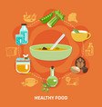 healthy eating composition vector image